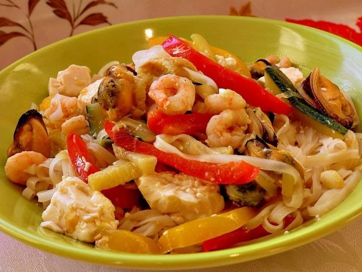 фунчоза с морепродуктами рецепт с фото
