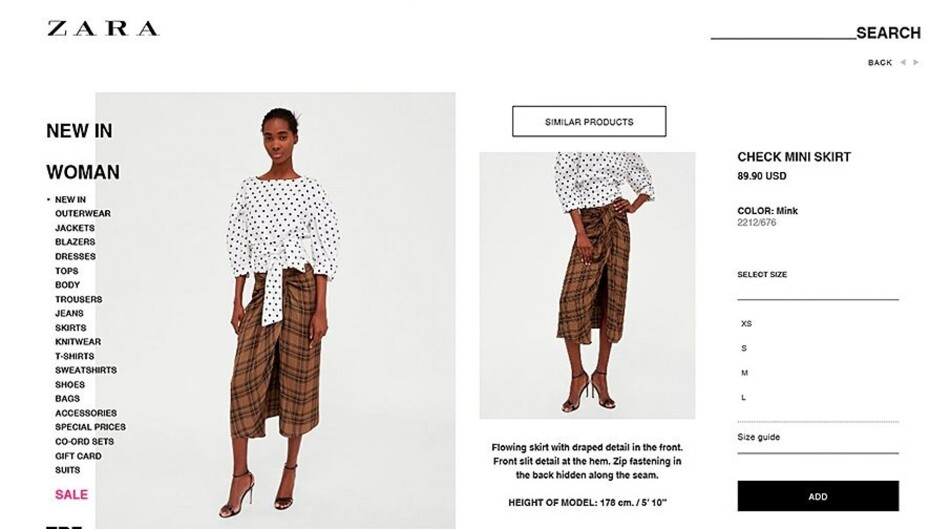 На второй — клетчатая мини-юбка испанского бренда Zara, которую  пользователи сети сравнили с традиционной одеждой индийцев. В результате  компанию обвинили в ... 7b6b052615a