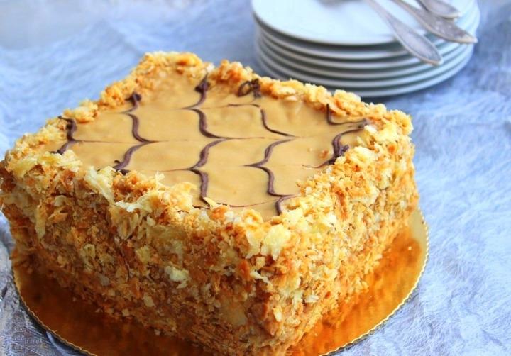 торт наполеон как раньге пошаговый фото рецепт