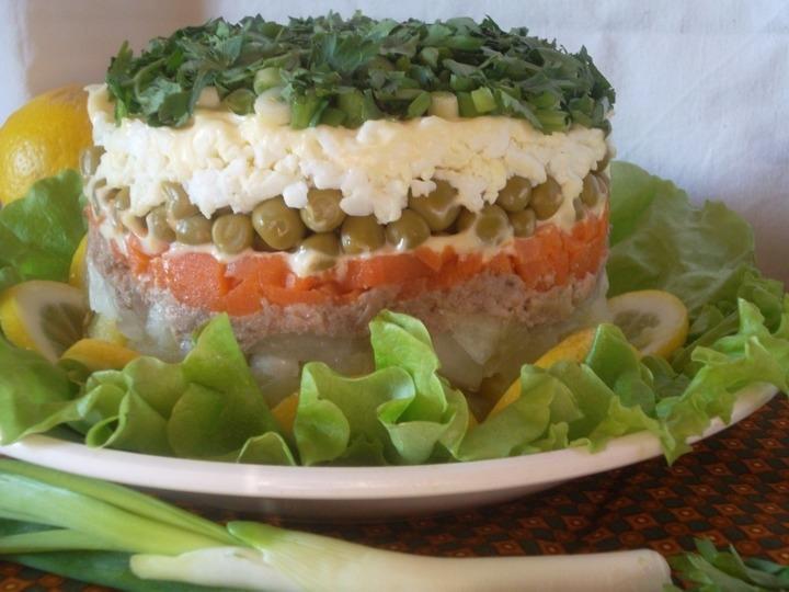 Как сделать салат и трески