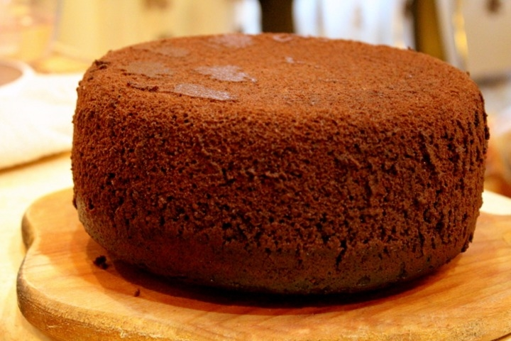 Рецепт пышного шоколадного бисквита