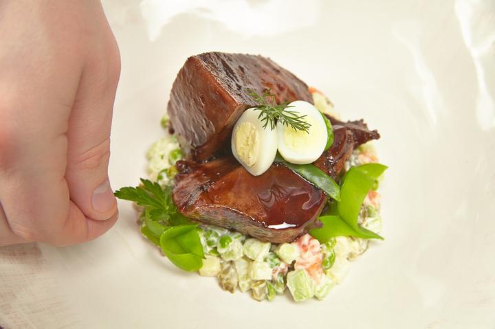 салат с языком говяжьим огурцом рецепт с фото