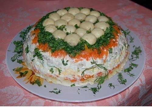 салат полянка рецепт пошаговый с фото