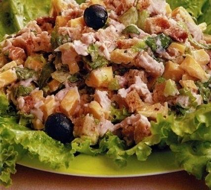 Как приготовить салат цезарь состав
