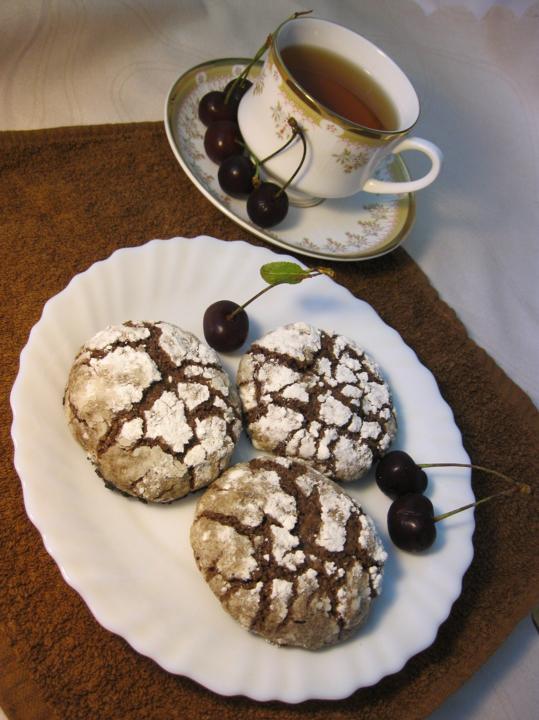 Как сделать трещинки на печенье