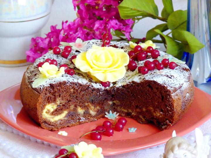 Пирог с черешней в мультиварке рецепт с фото