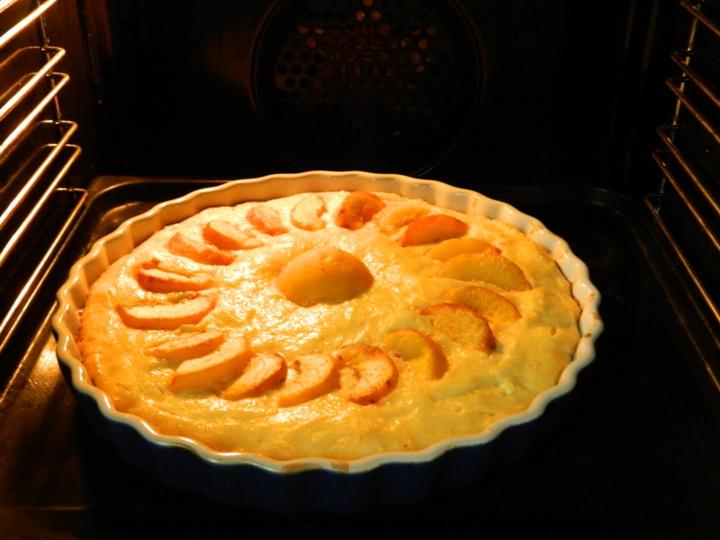 Творожная запеканка с персиками в духовке пошаговый рецепт
