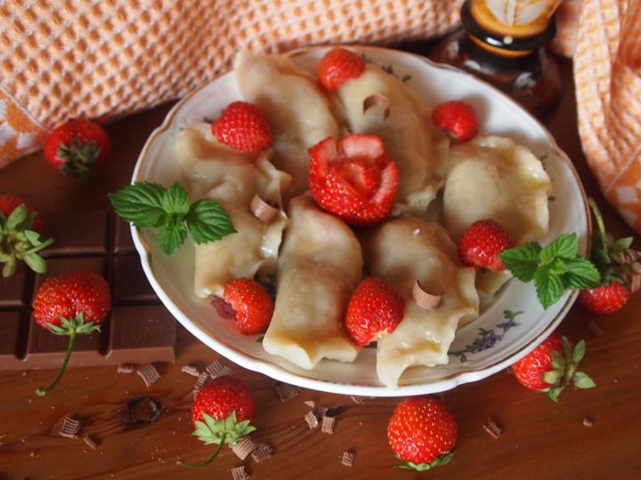 вареники с клубникой пошаговый рецепт с фото