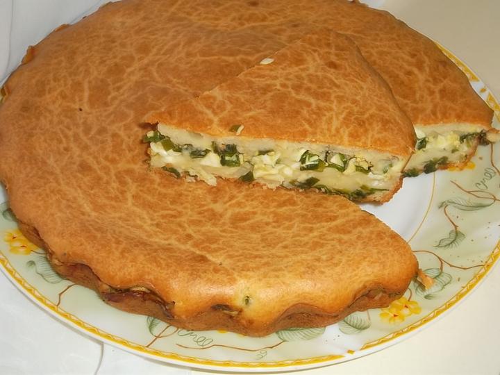 Пирог с луком и яйцом рецепт с на кефире