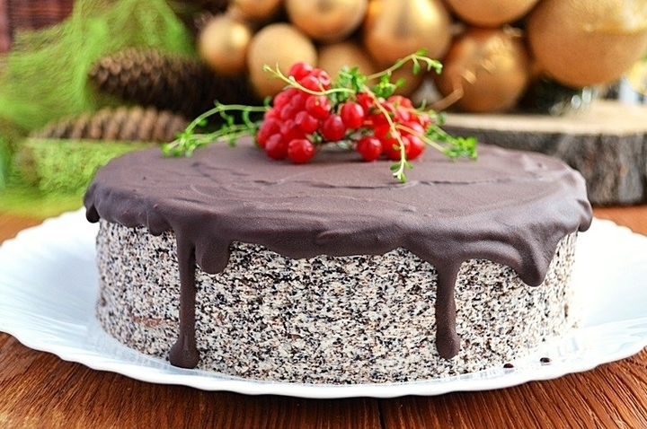 Торт маковый з фото