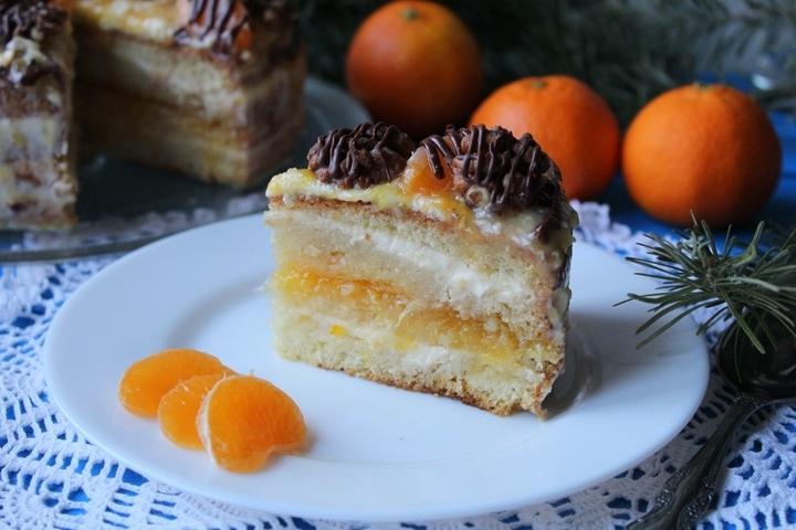 мандариновый торт рецепт с фото