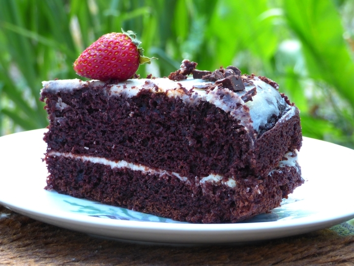 Простой шоколадный торт фото
