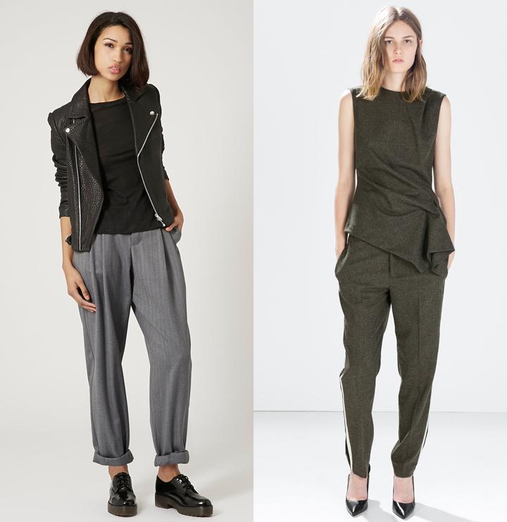 Шерстяные женские брюки