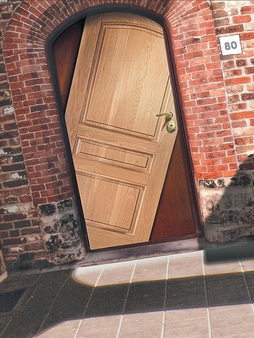 дизайн нестандартных дверей входных