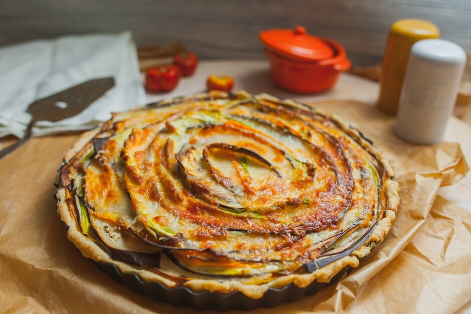 Пирог с овощами рецепт с фото