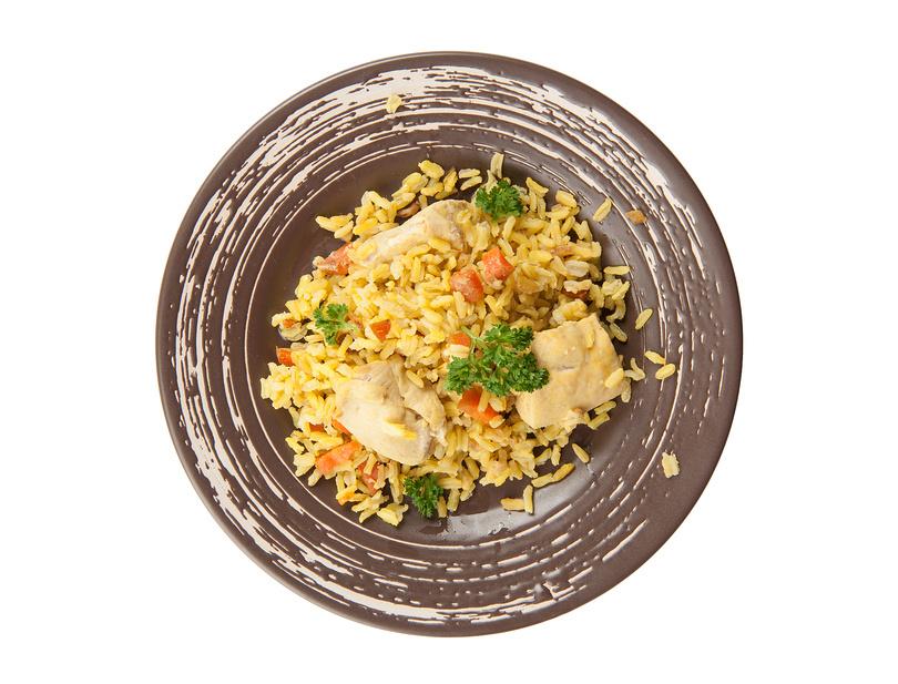 как приготовить плов из пропаренного риса и курицы