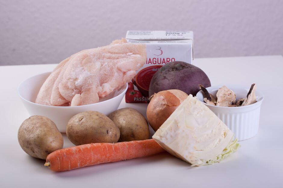 Борщ с куриной грудкой и грибами - пошаговый рецепт с фото ...