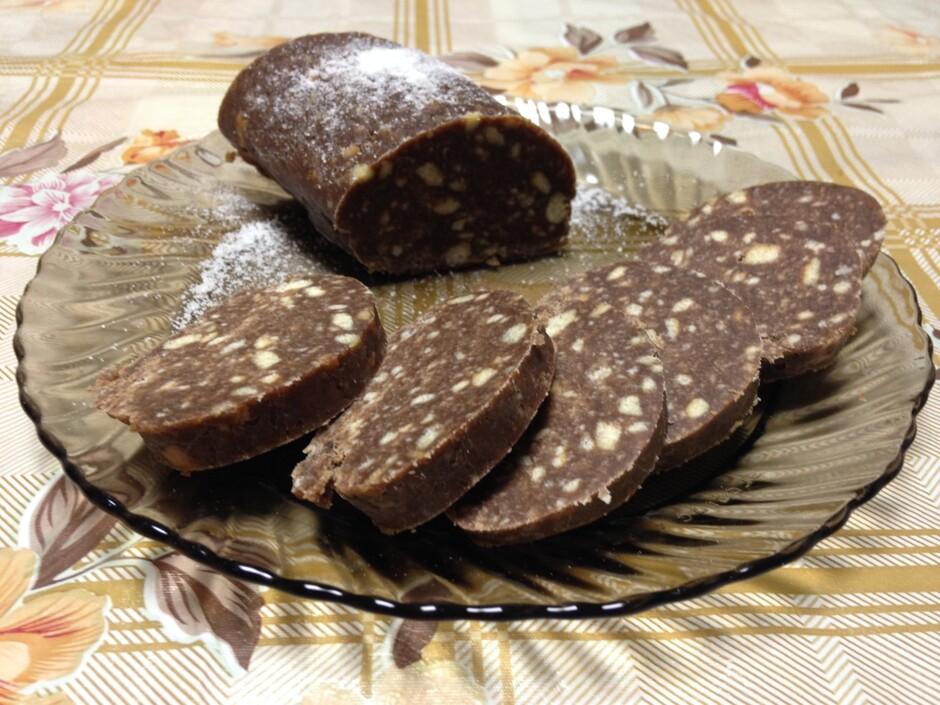 Сладкая колбаска рецепт с фото пошагово