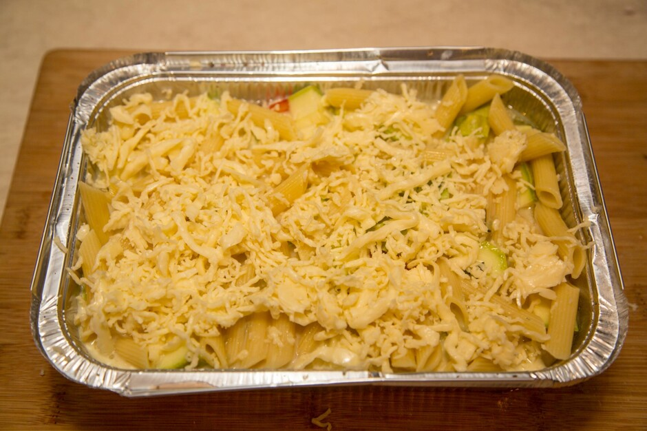 макарон с курицей в духовке рецепт фото