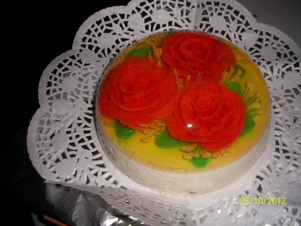 Желейные торты с цветами внутри