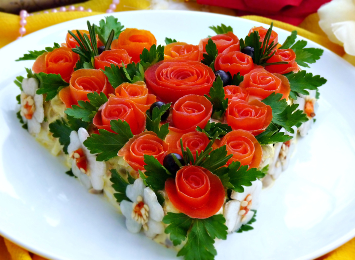 Интересные салатов на праздничный стол