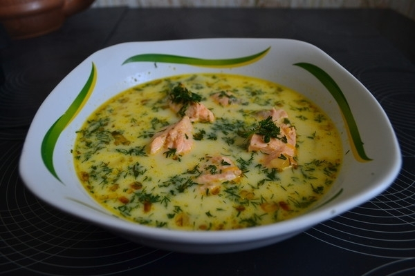 Сырный суп рецепт с рыбой и плавленным сыром фото
