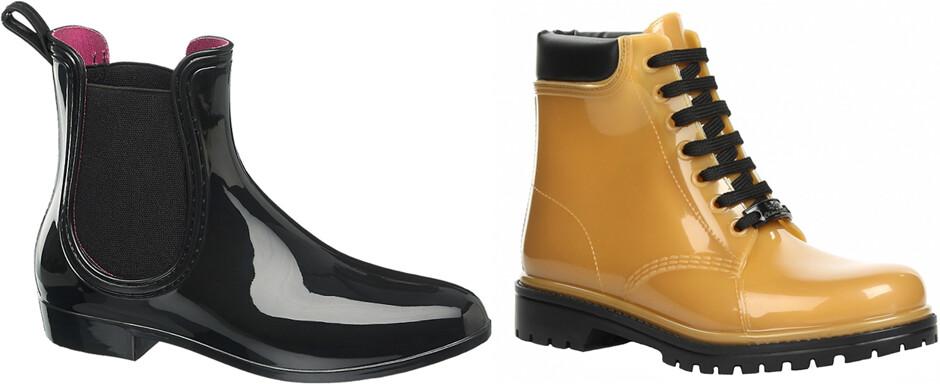 обувь на слякоть, резиновые сапоги, резиновые ботинки, стильная обувь