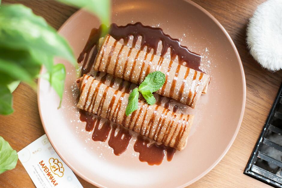 Блинчики с бананом и шоколадом рецепт пошагово