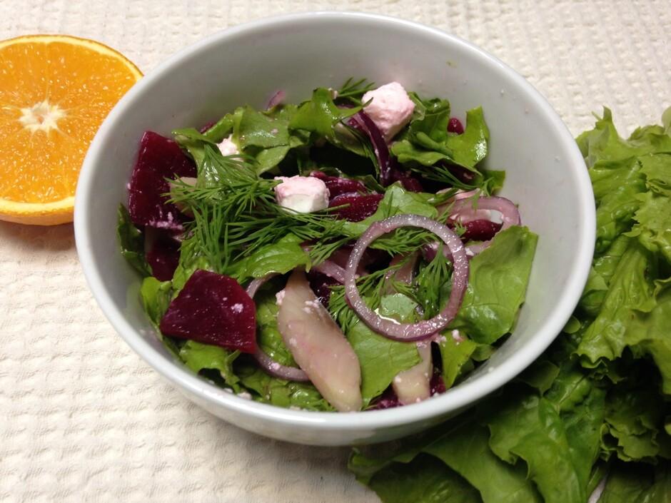 Простой салат со свеклой рецепт