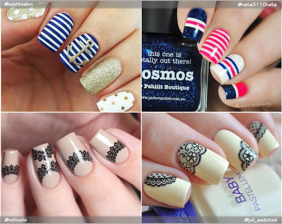Маникюр с цветами на ногтях наклейки