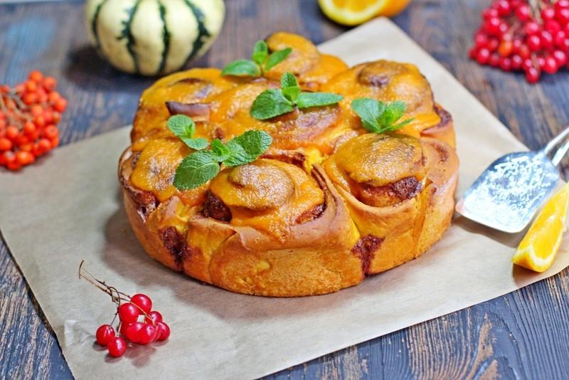 Тыквенные булочки с корицей рецепт с фото