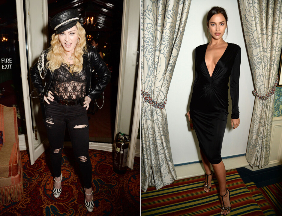 Мадонна и Ирина Шейк на вечеринке в Лондоне
