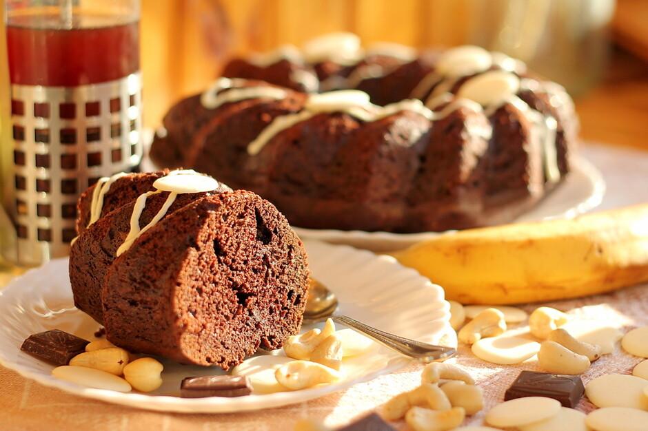 Бананово шоколадный кекс на кефире