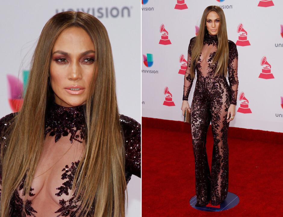 Дженнифер Лопес страстно поцеловала прежнего мужа впроцессе Latin Grammy