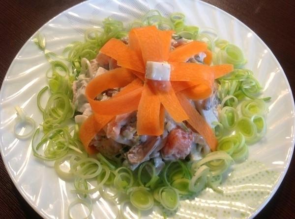 Салат из морепродуктов рецепт пошагово