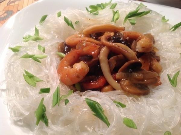фунчоза с морепродуктами как приготовить