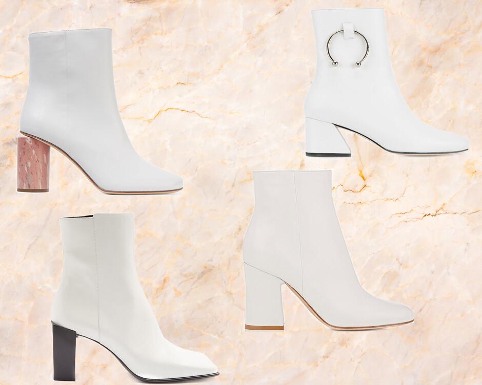 Тенденция: белая обувь