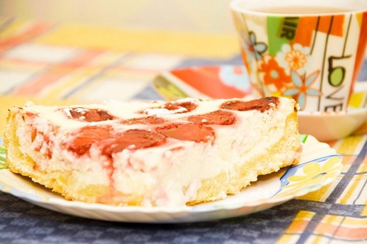Творожник с клубникой рецепт пошагово