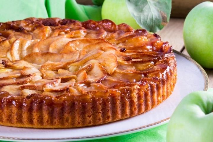 творожный пирог с яблоком рецепт