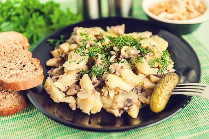 жареная картошка с грибами пошаговый рецепт с фото