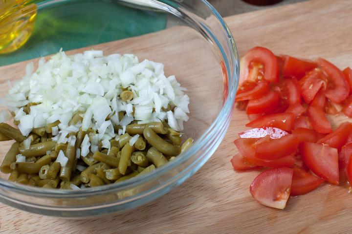 салат со стручковой фасолью пошаговый рецепт